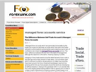 Forex account management services